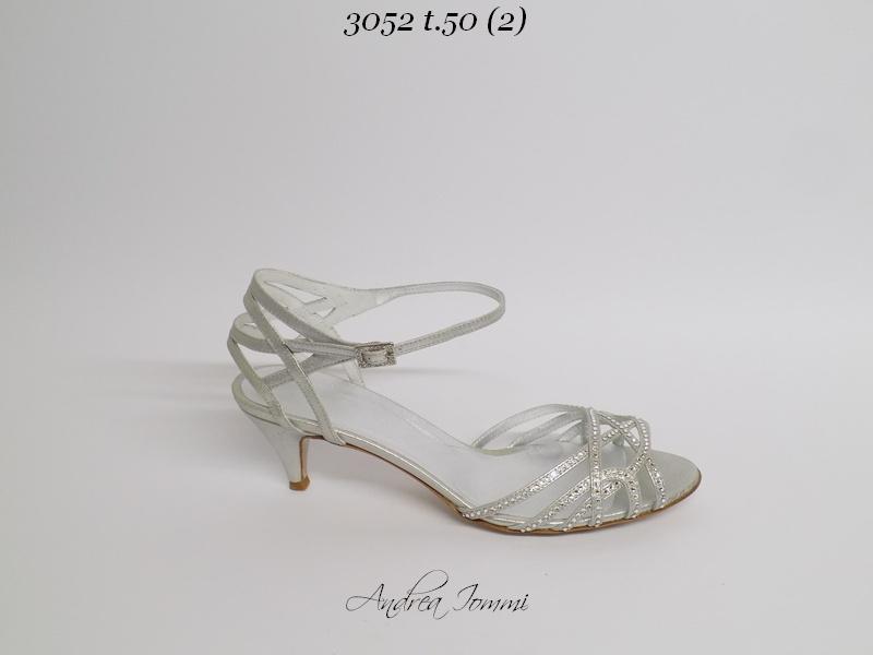 sandali da sposa bassi con Swarovski