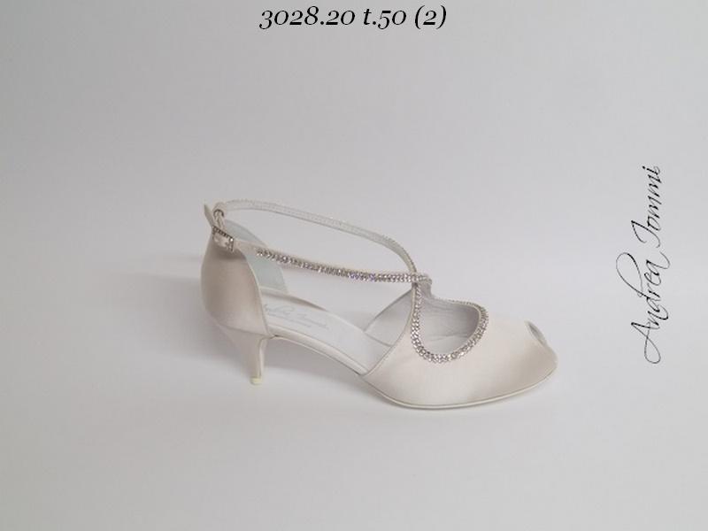 scarpe sposa in raso con cristalli Swarovski