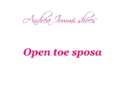 open toe sposa